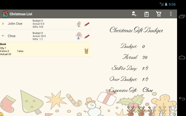 Christmas List Snowball- screenshot