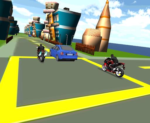 Turbo Speed Road Rash Moto 3D