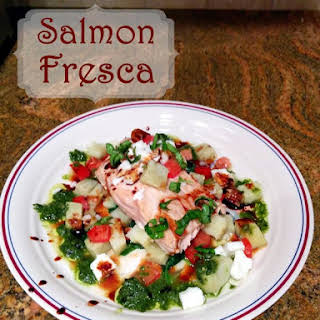 Grilled Salmon Fresca.