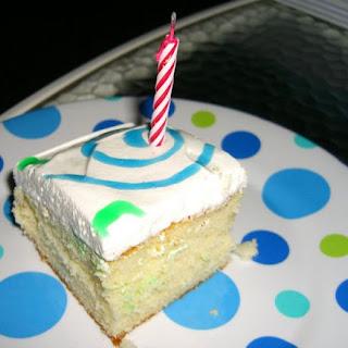 Yellow Sheet Cake (Birthday Cake).