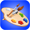 Kids Coloring blue Book icon