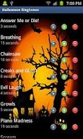 Screenshot of Halloween Ringtones