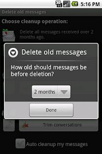 Delete old messages- screenshot thumbnail