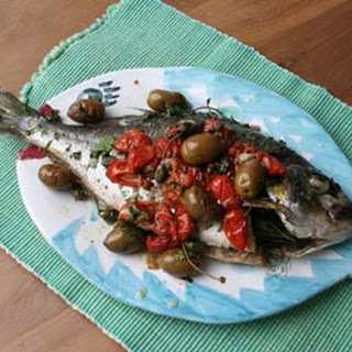 Roast Bream with Fennel, Olives and Tomatoes Recipe