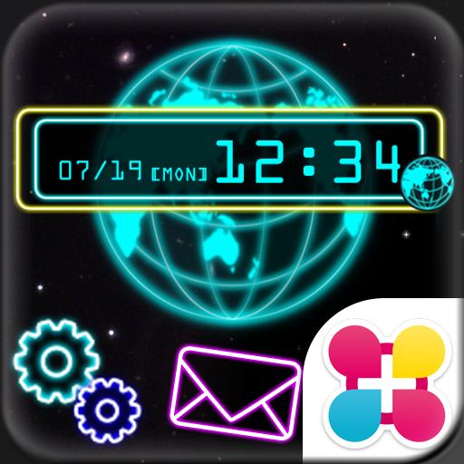 Neon Globe Wallpaper Theme Icon