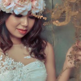 She by May Myat Kyaw - Wedding Bride ( angel, dream, art, bride, portrait )
