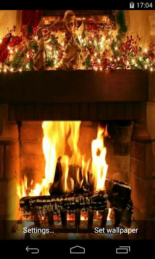 Christmas Fireplace Video LWP