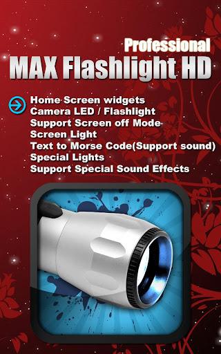 MAX Flashlight HD Pro