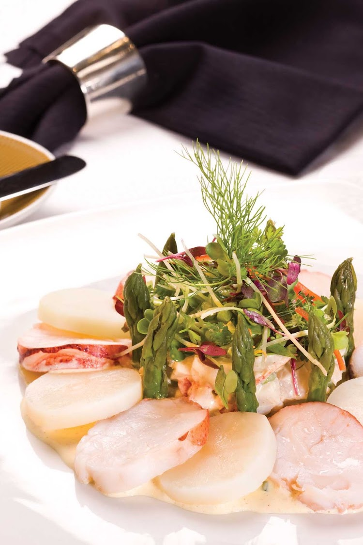 A fresh lobster salad available in the Prime 7 restaurant on Seven Seas Voyager.