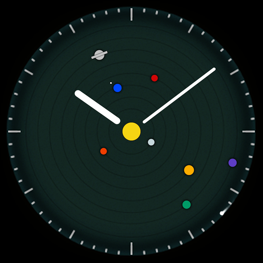 Planets Watchface Android Wear- screenshot