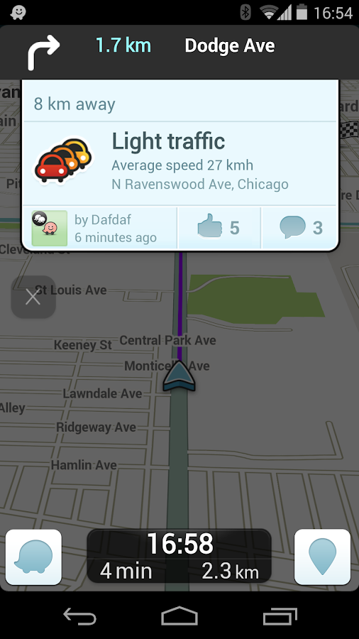 waze how to get to options