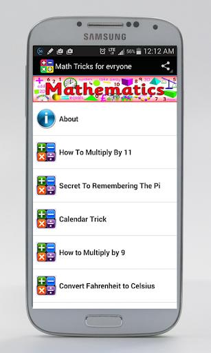 Math Tricks for everyone
