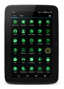 Chromed Emerald Launcher Theme