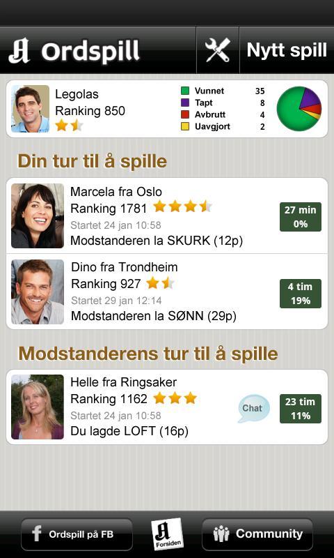 Ordspill- screenshot