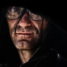 Darken by BO LED - People Portraits of Men ( biker, moto, portrait, black, friend,  )