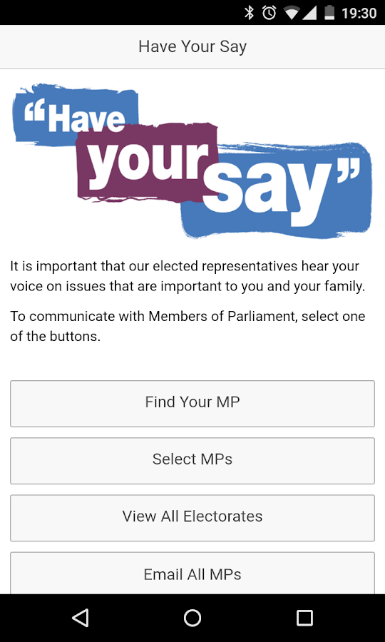 Have Your Say- screenshot