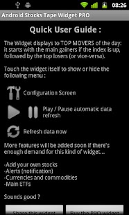 Stocks Tape Widget for Android - screenshot thumbnail