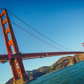 Across The Span by Luke Collins - Buildings & Architecture Bridges & Suspended Structures ( landmark, november, golden gate bridge, landmarks, california, d7100, sf, golden gate, nikon, san francisco )