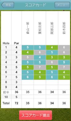 ALBAゴルフスコアカードアプリのおすすめ画像3