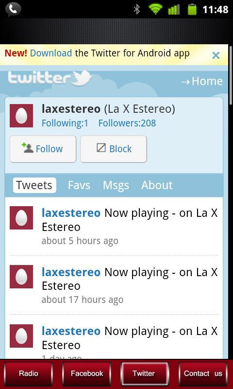 La X Estereo 100% Salsa - screenshot