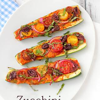 Zucchini Pizza Boats.