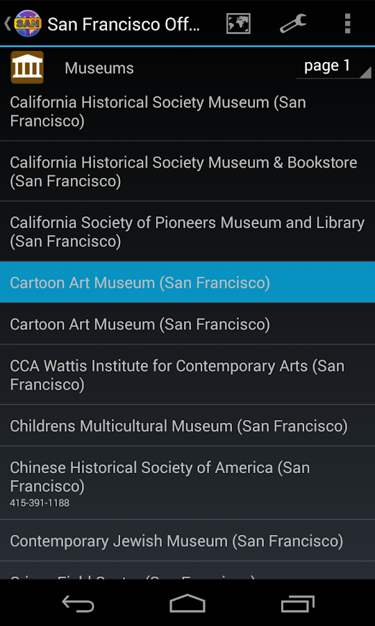 San Francisco Offline City Map- screenshot