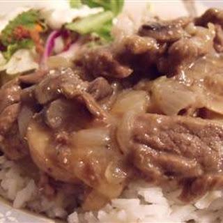 Simply Elegant Steak and Rice.
