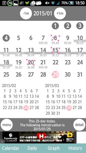 LadyNavi Menstrual calendar
