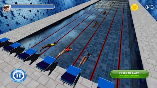 水泳レース3D