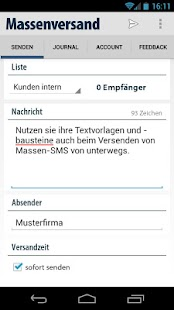 massen SMS Versand Gateway App- screenshot thumbnail