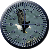 BoP 3 Bald Eagle Analog Clock