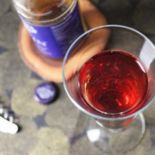 Hard Cider and Crème Yvette Sparkler.