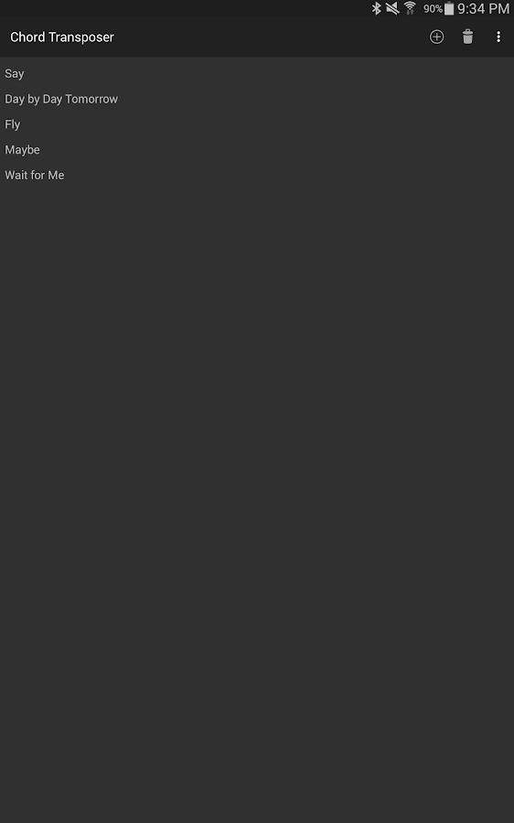 Chord Transposer - screenshot