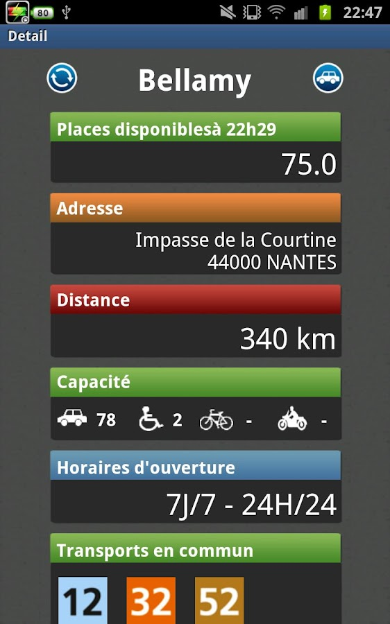 Parking Nantes - screenshot