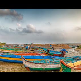 annamalaicherry boats by Shaik Mohaideen - Transportation Boats ( annamalaicherry, boats, india, fisherman, chennai, tamilnadu )