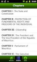 Screenshot of mauritius constitution