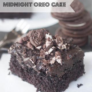 Midnight Oreo Cake.