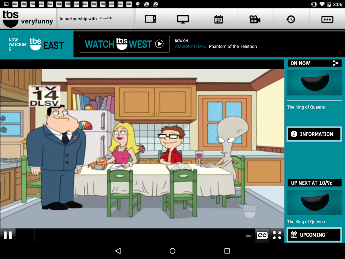 WATCH TBS for Tablets - screenshot