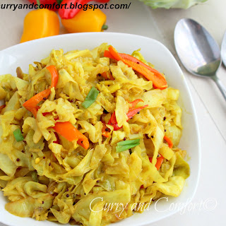 Sweet and Sour Cabbage Curry Stir Fry (Throwback Thursday).