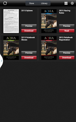 AQHA Rules - screenshot