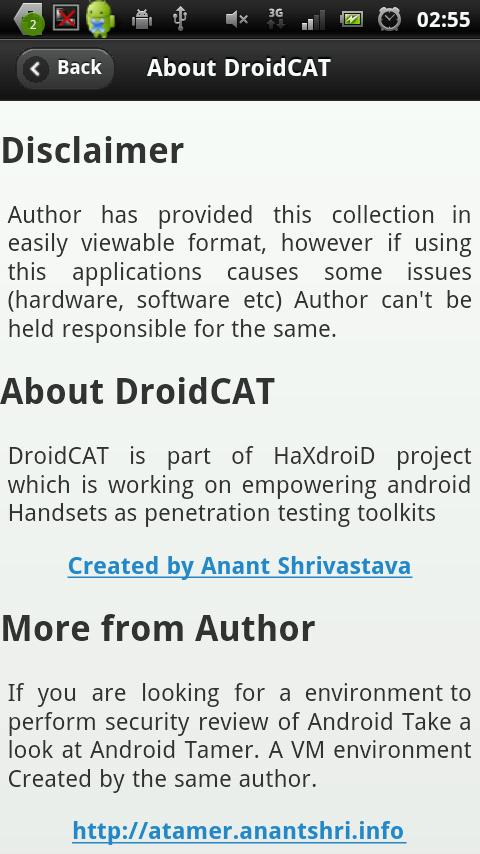 Droidcat - beta- screenshot