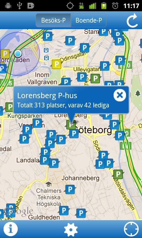 Hitta Parkering- screenshot