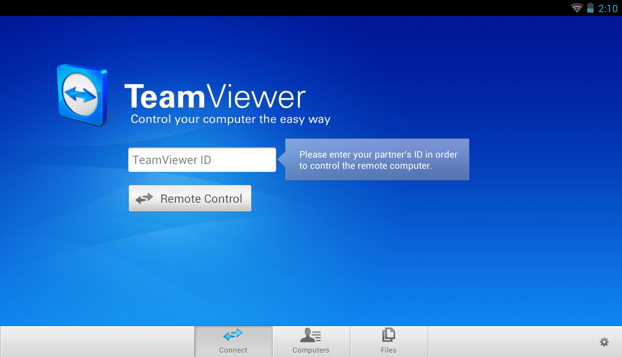 TeamViewer for Remote Control - screenshot