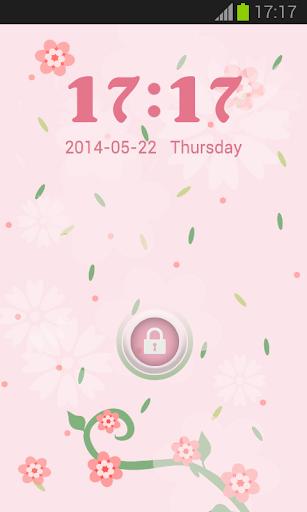 粉紅色的愛儲物櫃GO主題