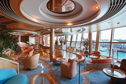 Jewel-of-the-Seas-Champagne-Bar - Sip champagne at Jewel of the Seas' classy Champagne Bar.