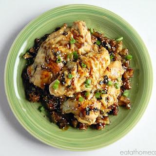 Asian Glazed Oven Fried Chicken.