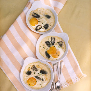 Eggs and Morels Baked In Cream