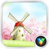 Hand Painted Windmill LWP