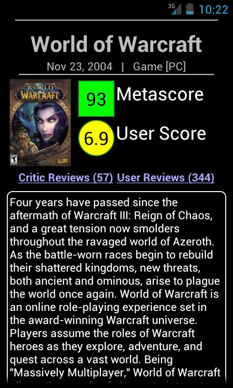 Metacritic Searcher - screenshot