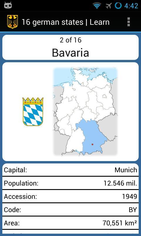 16 German states - screenshot